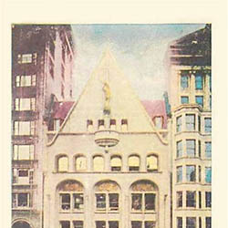 Postcard - Chicago Record-Herald Building - Tinted - 1908