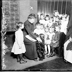 Harriet E. Vittum with Children