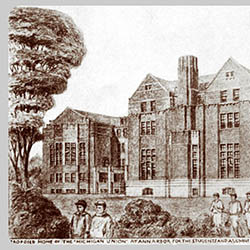"Proposed Home of the ""Michigan Union"" at Ann Arbor for the Students and Alumni of the University of Michigan."