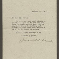 27Oct1911_AddamsToGreen_letter.jpg