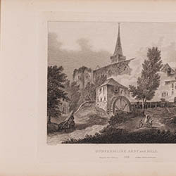 Scotia Depicta - Dunfermline Abbey and Mill, 1804