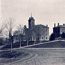 Amherst College and campus, 1860