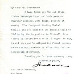 Jane Addams to David Bressler, March 31, 1909.jpg